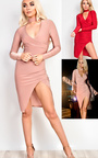 Evy Choker Gathered Bodycon Dress Thumbnail