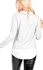 Lizzie Embellished Collar Shirt Jumper Thumbnail