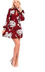 Amy High Neck Floral Dress Thumbnail