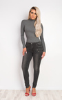 Dorete Zip Detail Skinny Jeans Thumbnail