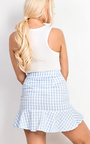 Perla Gingham Frill Trim Mini Skirt Thumbnail
