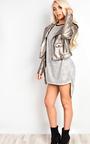 Roxie Faux Leather Metallic Jacket Thumbnail