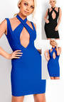 Chyna Cross Front Bodycon Dress Thumbnail