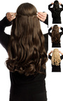 Intense Volume Clip In Hair Extensions - Curly Choc Brown  Thumbnail