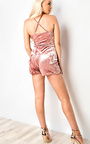 Scarlet Velour Playsuit Thumbnail