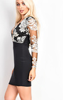 Karina Deep Plunge Bodycon Dress Thumbnail