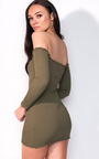 Sienna Long Sleeve Bardot Luxe Bandage Dress Thumbnail