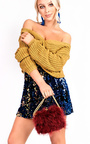 Daisy Plunge Knitted Jumper Thumbnail