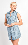 Hilde Polkadot Denim Shirt Dress Thumbnail
