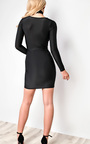 Libby Slinky Choker Neck  Bodycon Dress Thumbnail