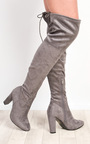 Dusty Faux Suede Knee High Boots  Thumbnail