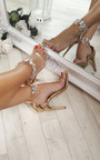 Jessi Jewelled Clear Strap Heels Thumbnail