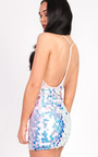 Hayley Holographic Strappy Bodycon Dress Thumbnail