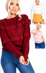 Merisa Frill Stretch Jumper Thumbnail