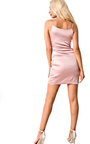 Sherrie Satin Choker Neck Dress Thumbnail