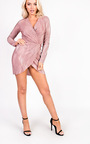 Kelcie Long Sleeved Shimmer Dress Thumbnail