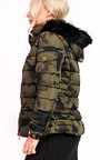 Josephine Camo Padded Faux Fur Hooded Jacket Thumbnail