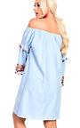 Lexie Bright Pom Pom Bardot Shift Dress Thumbnail