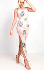 Sierra Bodycon Floral Zip Side Maxi Dress Thumbnail