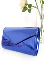Amel Metallic Envelope Clutch Bag Thumbnail