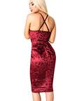 Milla Velour Bodycon Dress Thumbnail