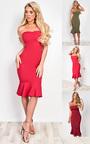 Brianna Frill Midi Dress  Thumbnail