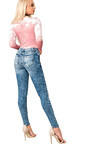 Tasha Embroidered Ripped Skinny Jeans Thumbnail