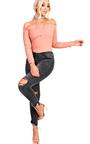 Anya Ripped Skinny Jeans Thumbnail