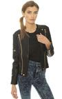 Viper Faux Leather Biker Jacket  Thumbnail