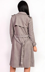 Alana Faux Suede Trench Jacket Thumbnail