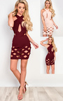 Lucinda Laser Cut Bodycon Dress Thumbnail