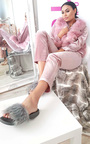 Lucia Faux Fur Sliders  Thumbnail