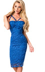 Roseanne Lace Strappy Bodycon Dress Thumbnail