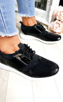 Kelise Sequin Lace Up Trainers Thumbnail