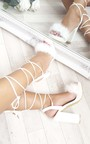 Loucia Fluffy Lace Up High Heels  Thumbnail