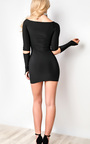 Carley Off Shoulder Bodycon Dress Thumbnail
