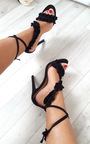 Bela Faux Suede Frill Barely There Heels Thumbnail