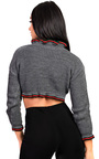 Kara Knitted Cropped Stripe Jumper Thumbnail