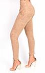 Tianna High Waist Button Faux Suede Leggings Thumbnail