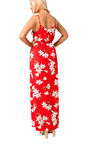 Markida Strappy Wrap Floral Maxi Dress Thumbnail