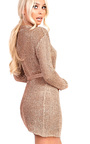 Alaska Metallic Tie Waist Knit Dress Thumbnail