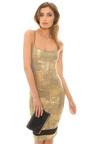 Harlan Metallic Mesh Dress Thumbnail