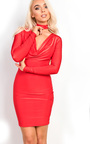 Libby Slinky Choker Neck  Bodycon Dress Thumbnail