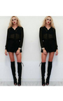 Beau Knee High Lace Up Boots Thumbnail