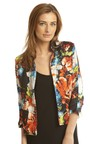 Joelle Floral Blazer in Red Thumbnail