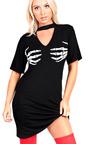 Skeleton Fancy Short Sleeved Dress  Thumbnail