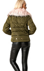 Annika Faux Fur Quilted Jacket  Thumbnail