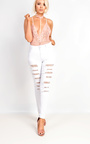 Alis Lace Ripped Skinny Jeans Thumbnail