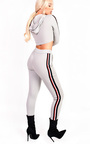 Kirsty Stripe Hooded Slim Fit Tracksuit Thumbnail