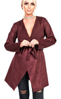 Liza Suede Waterfall Coat Thumbnail